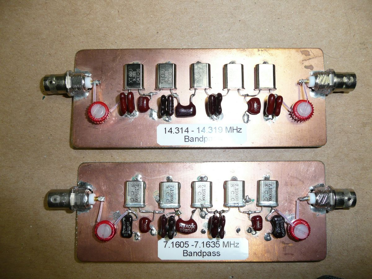 Crystal Bandpass Filters Good Pix For Band Reject Filter Circuit Generally Ignoring This Small Change Has No Detremental Effect On The Performance Nevertheless Ltspice Is Happy To Model Either Way And